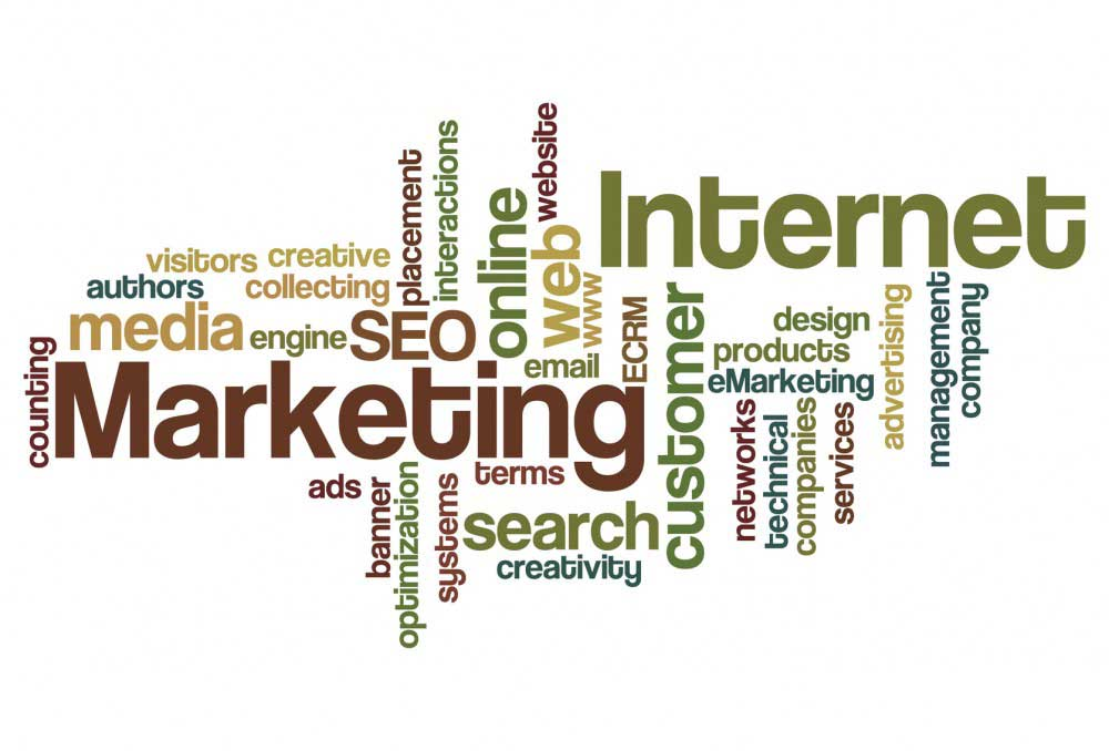 Internet and Marketing - Word Cloud